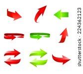 arrow icon set. vector... | Shutterstock .eps vector #224362123