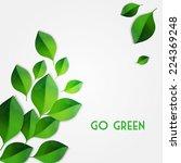 green leaves background | Shutterstock .eps vector #224369248