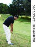 professional golf player ready... | Shutterstock . vector #224371090
