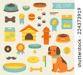set of dog stuff icons | Shutterstock .eps vector #224373919