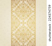 vector floral border in eastern ... | Shutterstock .eps vector #224374759