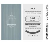 wedding invitation card. save...   Shutterstock .eps vector #224378248