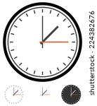 clock  clockface vector. time ... | Shutterstock .eps vector #224382676