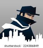 private detective investigator... | Shutterstock .eps vector #224386849