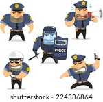 Police Officer Cop Set Vector...