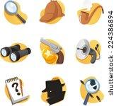 detective icon set elements in... | Shutterstock .eps vector #224386894