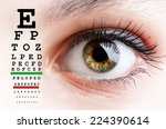 womans eye and eyesight vision... | Shutterstock . vector #224390614