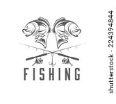 vintage fishing vector design... | Shutterstock .eps vector #224394844