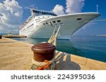 Cruise Ship On Dock In Zadar ...