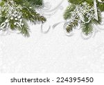 christmas white background with ... | Shutterstock . vector #224395450