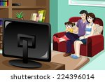 a vector illustration of happy... | Shutterstock .eps vector #224396014