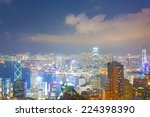 panorama of hong kong skyline... | Shutterstock . vector #224398390