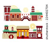 chinese city | Shutterstock .eps vector #224402704