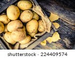 Raw Organic Golden Potatoes In...