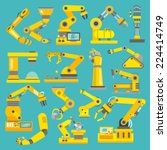 robotic arm manufacture... | Shutterstock .eps vector #224414749