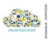 online education school...   Shutterstock .eps vector #224415160