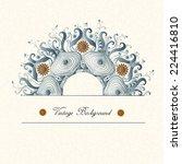 vintage invitation card.ornate...   Shutterstock .eps vector #224416810