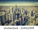 Chicago Skyline Panorama Aerial ...