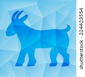 new year of the goat  sheep ... | Shutterstock .eps vector #224423554