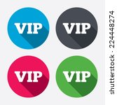 vip sign icon. membership...