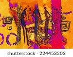 african motive ethnic retro... | Shutterstock . vector #224453203