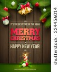 vector christmas messages and... | Shutterstock .eps vector #224456014