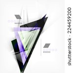 color triangles  unusual... | Shutterstock . vector #224459200