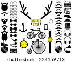 Set Of Hipster Icons. Vector...