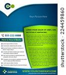 vector brochure  flyer ... | Shutterstock .eps vector #224459860