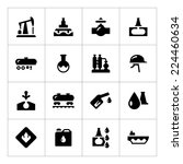 set icons of oil industry... | Shutterstock . vector #224460634