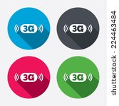 3g sign icon. mobile... | Shutterstock .eps vector #224463484