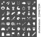 set icons of sports and fitness ... | Shutterstock . vector #224467234