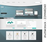 website design template menu...