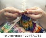 Knitting A Colorful Scarf ...