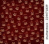 halloween pumpkin faces pattern ...   Shutterstock . vector #224471839