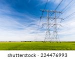 high voltage lines and power...