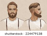 portrait of stylish fashion... | Shutterstock .eps vector #224479138