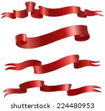 red vector ribbons scrolls set | Shutterstock .eps vector #224480953