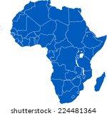 africa map | Shutterstock .eps vector #224481364