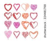 hearts symbols vector set ...   Shutterstock .eps vector #224481700