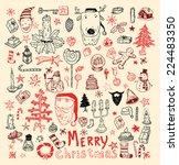 doodle christmas element.... | Shutterstock .eps vector #224483350