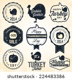 thanksgiving day badges and... | Shutterstock .eps vector #224483386