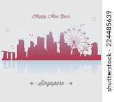singapore vector | Shutterstock .eps vector #224485639