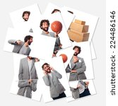 crazy businessman photos group | Shutterstock . vector #224486146