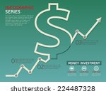 currency rising line diagram... | Shutterstock .eps vector #224487328