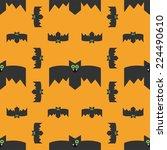 seamless pattern of bats ... | Shutterstock .eps vector #224490610