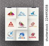 collection of vector logo...   Shutterstock .eps vector #224493058