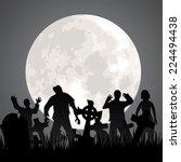 halloween background with...   Shutterstock .eps vector #224494438