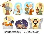 old testament  torah or jewish... | Shutterstock .eps vector #224505634
