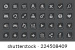interface buttons set for space ...